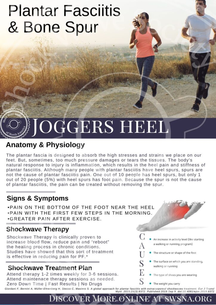 flyer-white-couple-running-content-describes-diagnosis-and-treatment-joggers-heel-with-shockwave-therapy